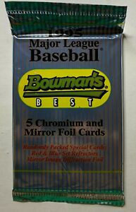 (1) One 1995 Bowmann's Best Baseball Card Pack Possible Jeter Rookie GS1099