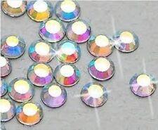 4mm trabajo Lote (720 piezas) de gran calidad Hot Fix cristal AB flatback Hotfix