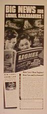 1941 Big News for Lionel Electric Trains Model Railroad Trade Toy Ad