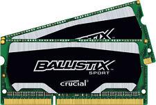 Crucial Ballistix Sport SODIMM 8GB Kit 4GB x2 DDR3 1600 MHz PC3-12800 Memory RAM