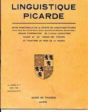 LIGUISTIQUE PICARDE - N°18 Mars 1966 - Musée de Picardie Amiens
