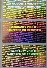 50 Serial Number Security  Hologram Tamper Evident Warranty Labels Stickers
