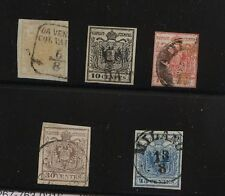 Austria 1-5  used imperforate set  catalog $490.00
