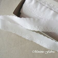14 Yards Embroidery Scalloped Cotton Eyelet Lace Trim  3.5 cm Wide White Lovely