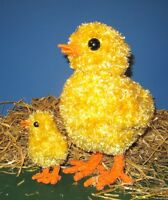 PRINTED INSTRUCTIONS-BIG CHICK LITTLE CHICK TOY  KNITTING PATTERN