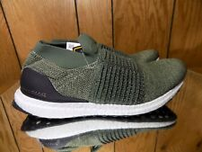pretty nice 5ef34 bbf63 Adidas Ultra Boost Laceless Mens 10 Olive Trace Cargo Shoes CP9252 Size 11