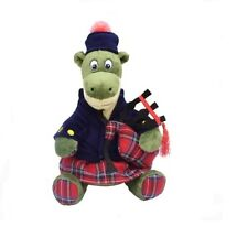 Scottish Plush NESSIE TARTAN PIPER - Toy 12'' Stuffed Toy - Loch Ness Monster