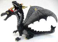 "Bullyland 75597 ""Drago doppia testa ali dietro nero argentato """