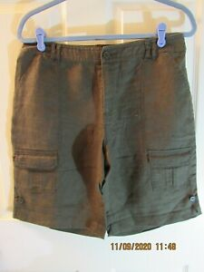 Coldwater Creek Natural Fit Cargo Linen Shorts Size 8