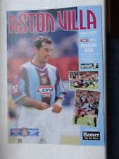 ASTON VILLA vs MAN Utd MANCHESTER UTD LEAGUE CUP 13.12.1999 football programme