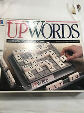 UPWORDS 3-Dimensional Word Game 1988 Milton Bradley Complete Game