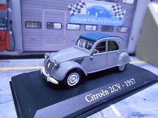 CITROEN 2cv 2 CV canard Grey Gris 1957 IXO Altaya Atlas prix spécial 1:43