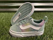 Vans Ward Slip-On Girls Toddler Shoes Rainbow Glitter SZ 5 ( VN0A3QU116R )