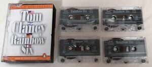 AUDIO BOOK - Tom Clancy Rainbow Six Read By David Dukes X4 Tapes Penguin Audio