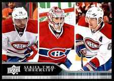 2014-15 Upper Deck Series 2 Carey Price  P.K. Subban  Max Pacioretty Checklist