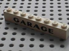 LEGO VINTAGE Brick 1 x 8 with Black GARAGE Pattern 3008p03 / Set 355 348 491 236