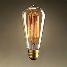 ST64 E26 E27 40W 220V 250V Edison Halogen Bulb Yellow Warm Lights Screw Holder