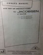 Jacobsen Chief LT-750 & 860 Lawn Tractor & Implements Owner & Parts (6 Manual s)