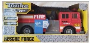 Tonka Real Tough Rescue Force Fire Truck With Light & Sound New