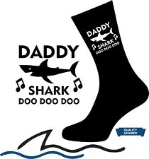 DADDY SHARK SOCKS Best DAD Grandad Uncle Mum Personalised Christmas Novelty gift