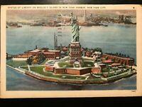 Vintage Postcard>1947>Statue of Liberty>Bedloe's Island>New York City Harbor>N.Y