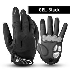 Winter Full Finger Bike Gloves Touch Screen Sports Racing Cycling Gloves Black L