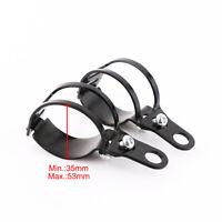 2x patte collier de fixation pour Moto clignotant Feu base support 40-51mm Noir
