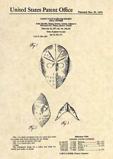 Vintage Goalie Hockey Mask US Patent Art Print- NHL Jason Voorhees Horror 111