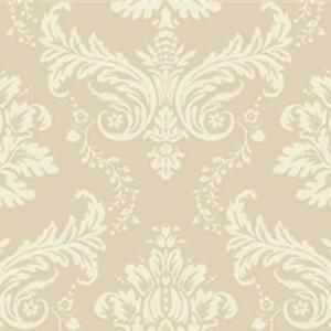 Alexander Damask Wallpaper Holden Decor Cream Gold Metallic