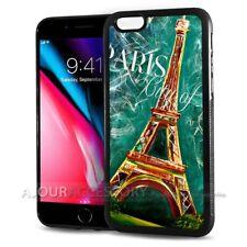 ( For iPhone 4 / 4S ) Back Case Cover AJ10073 Eiffel Tower Paris
