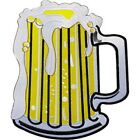 """Beer Mug Patch - Sew Iron on, Artwork - Oversized Large Patch - 7.68"""" x 9.25"""""""