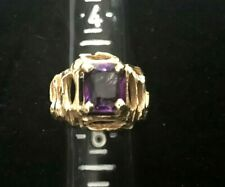 14K Gold Ring With Amethyst Stone Made In Arizonia