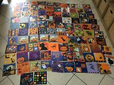 Lot de 101 serviettes en papier chat Halloween cat napkins