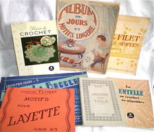 7 REVUES GUIDES ANCIENS COUTURE BRODERIE CROCHET