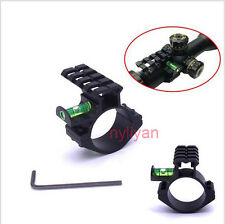 30mm Scope Ring Extend 20mm Picatinny Rail Mount&Bubble Level For Rifle Hunting