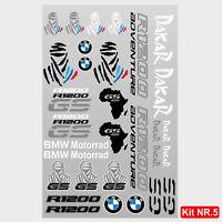Kit adesivi vari BMW R1200GS Adventure scritte r1200 gs tuareg dakar africa M.5