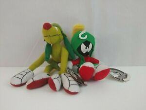 """1999 Applause Classic Collection Looney Tunes Marvin The Martian & K9 7"""" Plush"""