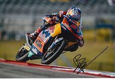 BO bendsneyder Firmato a Mano 12x8 PHOTO Red Bull KTM AJO MOTO 3 2016 MOTOGP 6.
