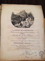 Th. Bayle La prière de l'orpheline romance chant piano hautbois partition Pleyel