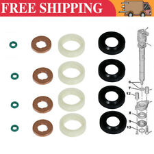 FUEL INJECTOR SEAL WASHER O-RING 4X SET FOR PEUGEOT CITROEN FORD FOCUS DIESEL