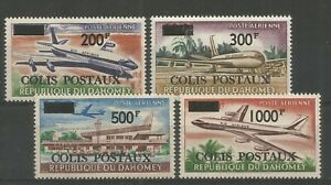 DAHOMEY 1967 PARCEL POST 200F, 300F, 500F, 1000F, SG P279-82. Unmounted Mint