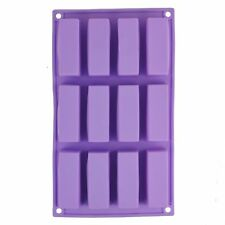 Selecto Bake - 12 Cavity Rectangle Silicone Mould for Soap Cake Chocolate