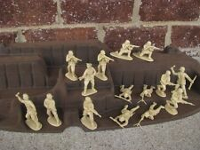 Matchbox WWII German Infantry D-Day 1/32 54MM Set Toy Soldiers Tan