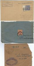 INDIA 1908 THREE COVER 1 REGISTERED MAND VI TIED 3 ANNAS K EDWARD + PAQUEBOT SS
