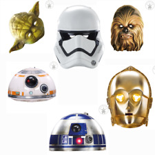 Rubie`s Star Wars Papier Gummiband Verschiedene Motive 12PappmaskeStarWars-S-H13