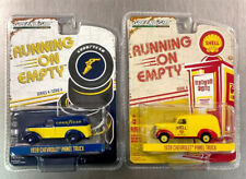 GREENLIGHT 1939 CHEVY PANEL TRUCK RUNNING ON EMPTY (LOT OF 2) SHELL & GOOD YEAR.