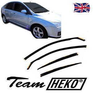 HEKO TINTED WIND DEFLECTORS for FORD FOCUS mk2 hatchback 2004-2010 4pc