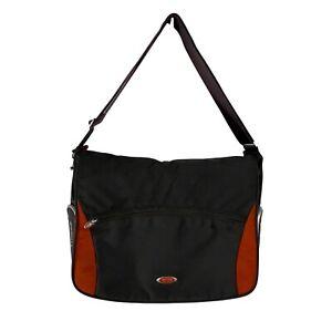 TUMI T3 Ducati Flap Briefcase Messenger Bag Gray/Orange Laptop Case Shoulder