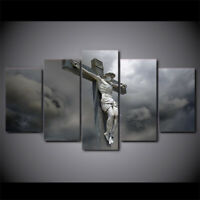 Shadow of Jesus on Cross 5 PCs Canvas Wall Art Poster Print Picture Home Decor