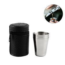 4pcs Stainless Steel Picnic Cup Wine Beer Coffee Mug Outdoor Camping Hot